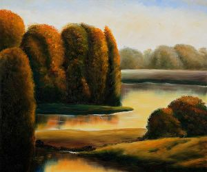 Golden Pond - Oil Painting Reproduction On Canvas