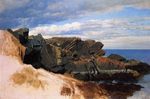 Rock Study at Nahant, Massachusetts - William Bradford Oil Painting