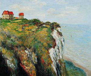 Cliff at Dieppe II - Claude Monet Oil Painting