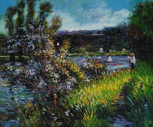 The Seine at Chatou II - Oil Painting Reproduction On Canvas