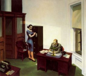 Office at Night - Edward Hopper Oil Painting