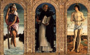 Polyptych of San Vincenzo Ferreri (detail) V - Giovanni Bellini Oil Painting