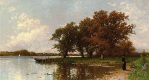 Early Autumn on Long Island - Alfred Thompson Bricher Oil Painting