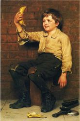 Banana Boy - John George Brown Oil Painting