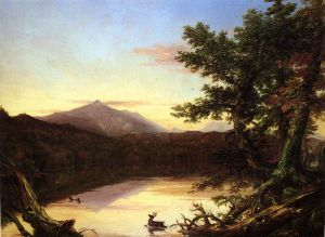 Schroon Lake - Thomas Cole Oil Painting