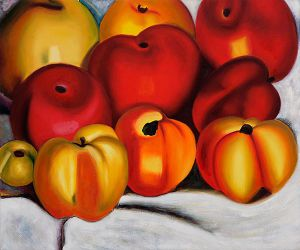 Apple Family II - Georgia O'Keeffe Oil Painting,