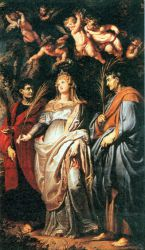 St Domitilla with St Nereus and St Achilleus - Peter Paul Rubens Oil Painting