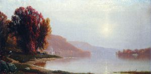 A Walk by the Lake - Alfred Thompson Bricher Oil Painting