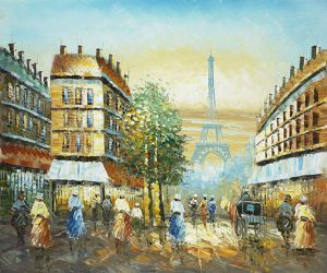 East View of The Eiffel - Oil Painting Reproduction On Canvas