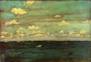 Violet and Siilver: A Deep Sea - James Abbott McNeill Whistler Oil Painting