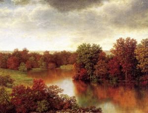 Bend in the River - William Mason Brown Oil Painting