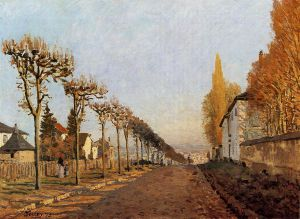 Chemin de la Machine, Louveciennes - Alfred Sisley Oil Painting
