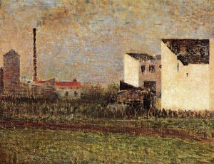 Suburb - Georges Seurat Oil Painting