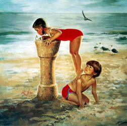 Beach Break - Donald Zolan Oil Painting