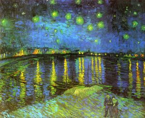 Starry Night Over the Rhone -   Vincent Van Gogh Oil Painting