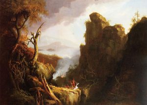 Indian Sacrifice - Thomas Cole Oil Painting