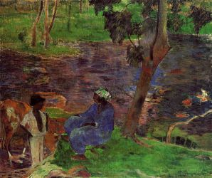 Riverside II - Paul Gauguin Oil Painting