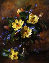 A Bunch of Flowers in a Vase - Oil Painting Reproduction On Canvas