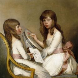 Anna Dorothea Foster and Charlotte Anna Dick - Gilbert Stuart Oil Painting