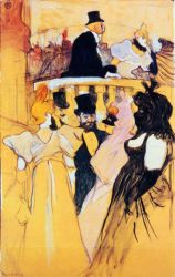 At the Opera Ball - Henri De Toulouse-Lautrec Oil Painting