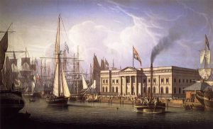 The Custom House Quay, Greenock, Scotland - Oil Painting Reproduction On Canvas