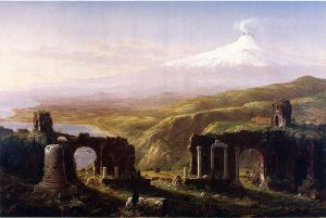 Mount Aetna from Taormina, Sicily - Thomas Cole Oil Painting