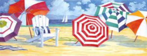 Summer beach 1 - Oil Painting Reproduction On Canvas