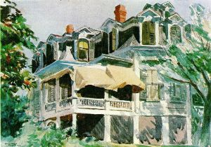 The Mansard Roof - Edward Hopper Oil Painting