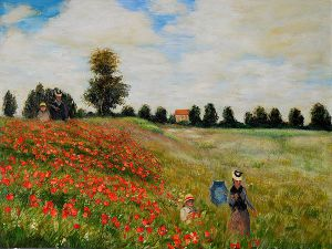 Poppy Field in Argenteuil - Claude Monet Oil Painting