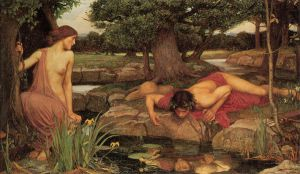 Echo and Narcissus - Oil Painting Reproduction On Canvas