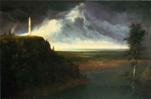 Brock's Monument - Thomas Cole Oil Painting