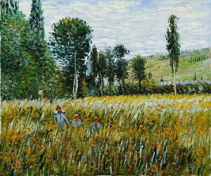 A Meadow, 1879 - Claude Monet Oil Painting
