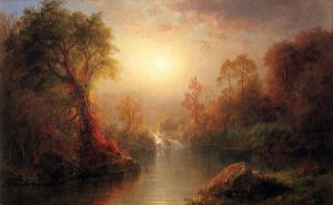 Autumn - Frederic Edwin Church Oil Painting