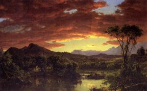 A Country Home - Frederic Edwin Church Oil Painting