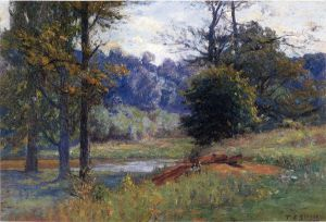 Along the Creek - Theodore Clement Steele Oil Painting