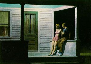 Summer Evening - Edward Hopper Oil Painting