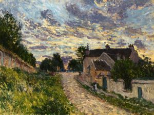 A Path in Louveciennes - Alfred Sisley Oil Painting