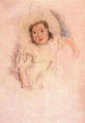 Margot Wearing a Bonnet - Mary Cassatt Oil Painting