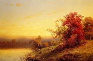 Autumnal Landscape II - William Mason Brown Oil Painting