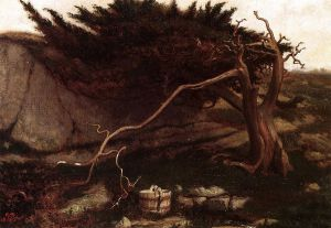 The Lonely Spring - Elihu Vedder Oil Painting