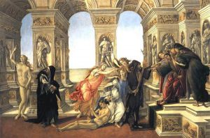Calumny of Apelles - Sandro Botticelli oil painting