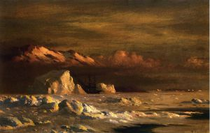 Ship and Icebergs - William Bradford Oil Painting