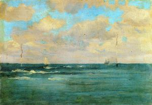 Bathing Posts - James Abbott McNeill Whistler Oil Painting