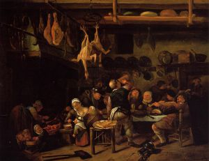 The Fat Kitchen - Jan Steen oil painting