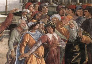 The Punishment of Korah and the Stoning of Moses and Aaron (detail 5) (Cappella Sistina, Vatican) - Sandro Botticelli oil painting