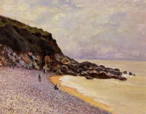 Lady's Cove before the Storm (Hastings) - Alfred Sisley Oil Painting