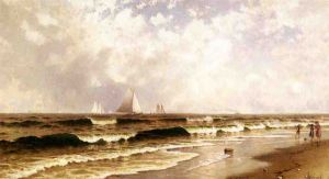 Afternoon, Southampton Beach - Alfred Thompson Bricher Oil Painting