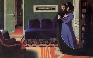 The Visit - Felix Vallotton Oil Painting