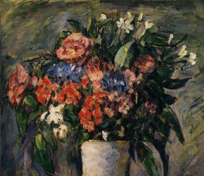 Pot of Flowers - Paul Cezanne Oil Painting