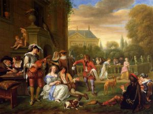 The Garden Party - Jan Steen oil painting